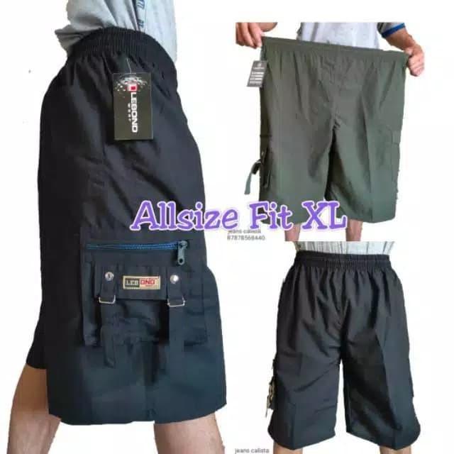 Foto Produk Celana kolor cargo kargo 3/4 pendek allsize fit L celana pria wanita dari Wijayashop_