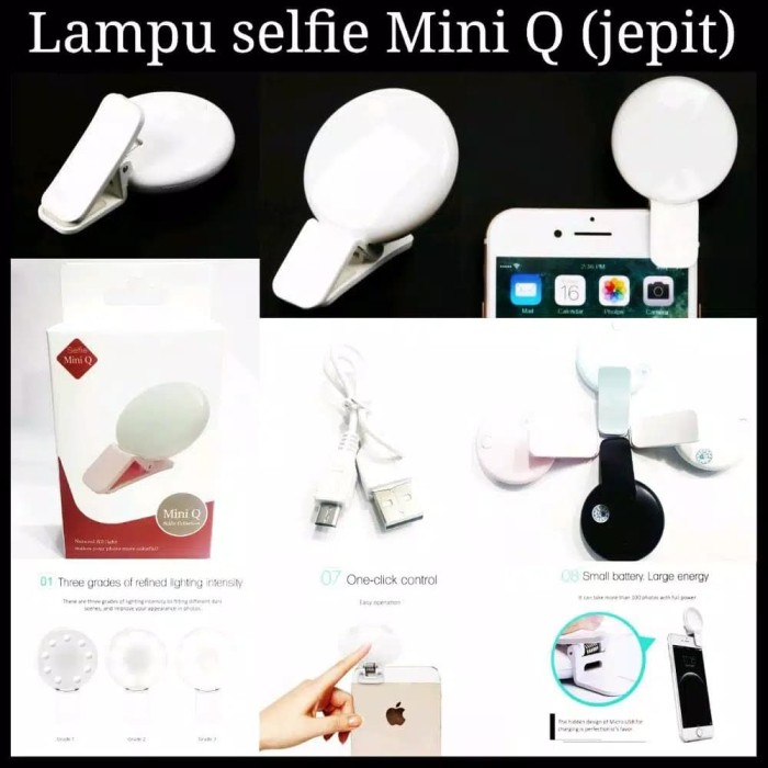 Foto Produk Lampu Selfie Jepit Mini Q Portable Selfie Light Lamp Clip dari MT Ponsel