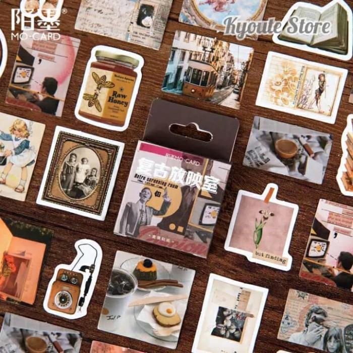 Jual 45 Pcs Sticker Deco Retro Aesthetic Journal Scrapbook ...