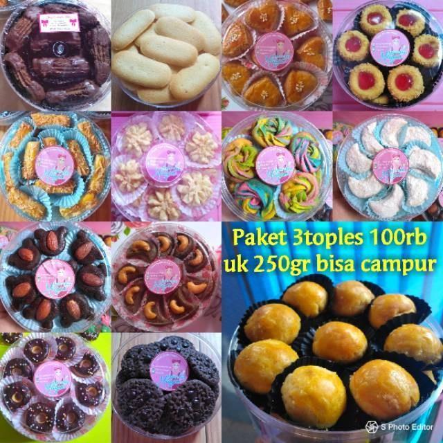 Jual Paket Promo Sale Kuker 100rb 3toples Kue Kering Lebaran Cookies Nastar Jakarta Pusat Foodilicious Tokopedia