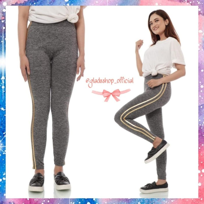Jual Celana Legging Misty Metalik Stripe Import Fashion Wanita Senam Gold Jakarta Barat Glads Shop Tokopedia