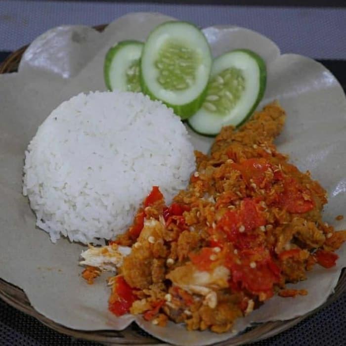 Jual Paket Ayam Geprek Pedas Nasi Es Teh Delivery Makanan