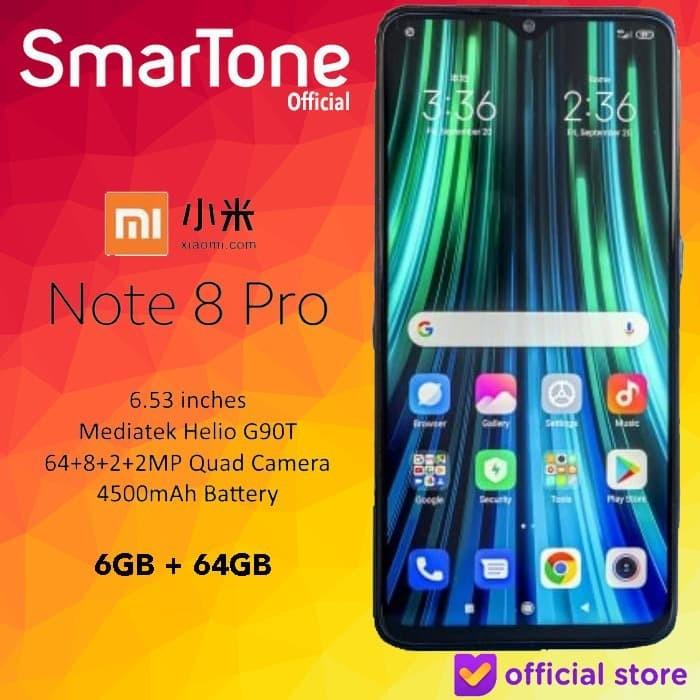 Foto Produk Xiaomi Redmi Note 8 Pro NOTE8 6GB 64GB 6 64 6/64 GB Garansi Resmi TAM - Mineral Grey dari Smartone
