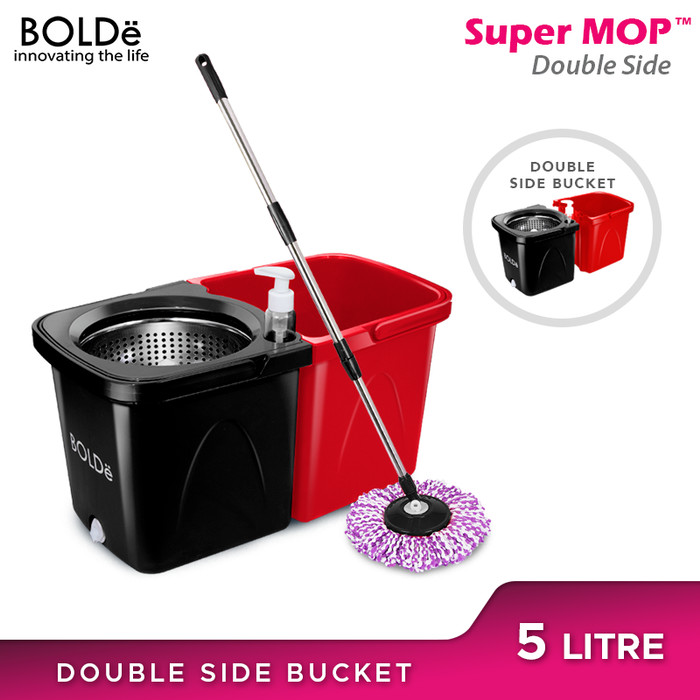 Foto Produk Bolde Super Mop Double Side - RED BLACK dari BOLDe Official Store