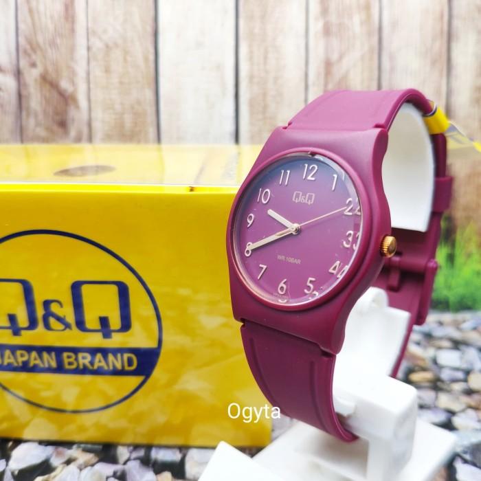 Foto Produk Q&Q QQ QnQ Analog Jam Tangan Wanita Merah Marun VP34J080Y Original dari Ogyta Shop