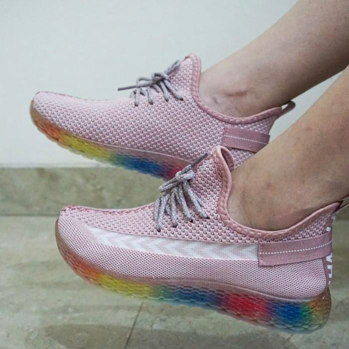 Foto Produk Sepatu Sneakers Sport Fashion Wanita Original M&M Collection N05 - Hitam, 37 dari G&V