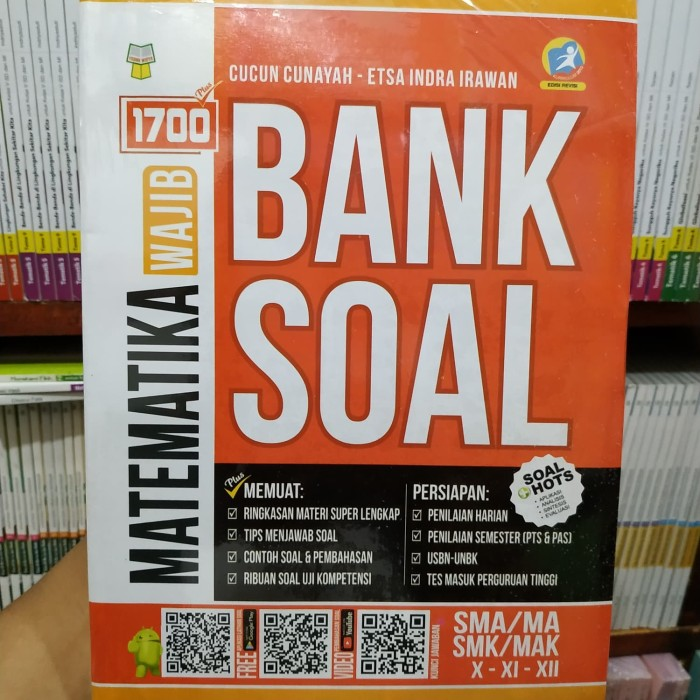 Foto Produk BUKU 1700 PLUS BANK SOAL MATEMATIKA WAJIB SMA MA SMK MAK dari lapak buku palasari