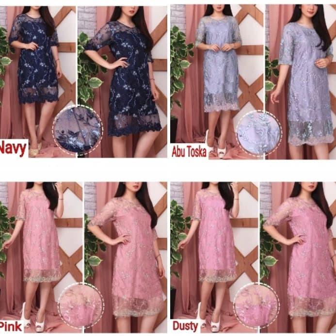 Jual Dress Brokat Remaja Gaun Pesta Kondangan Mini Midi Dres Natal Mutiara Jakarta Utara Fifa Shoping Tokopedia