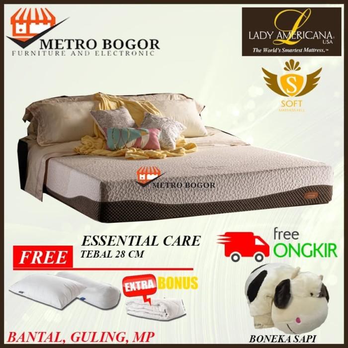 Foto Produk Lady Americana Spring Bed Essential Care uk 100x200 Murah dari Metropolitan Bogor