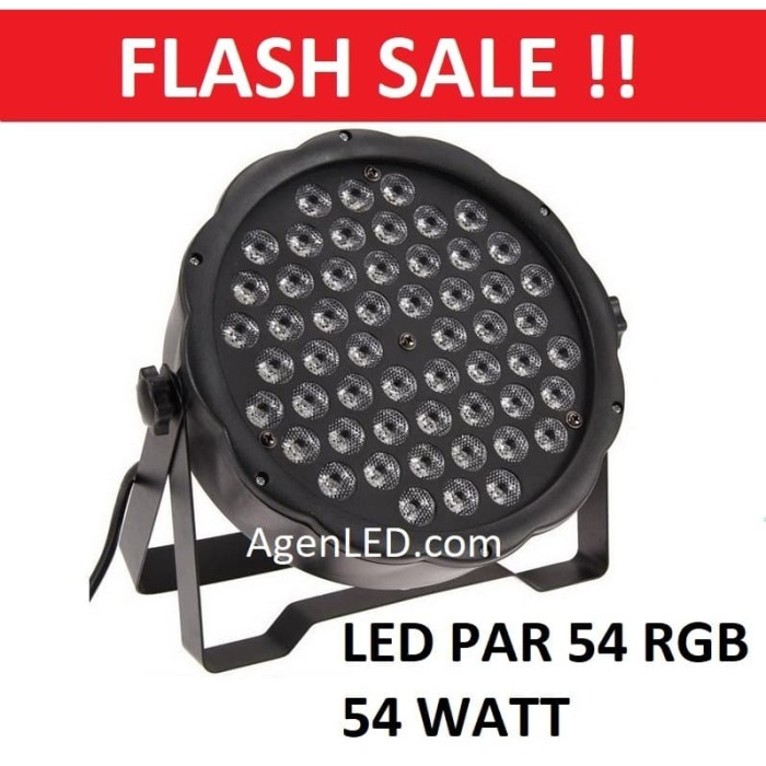 Foto Produk Lampu Sorot Panggung LED PAR RGB mata Disco warna warni RGBW 54 w watt dari AgenLED