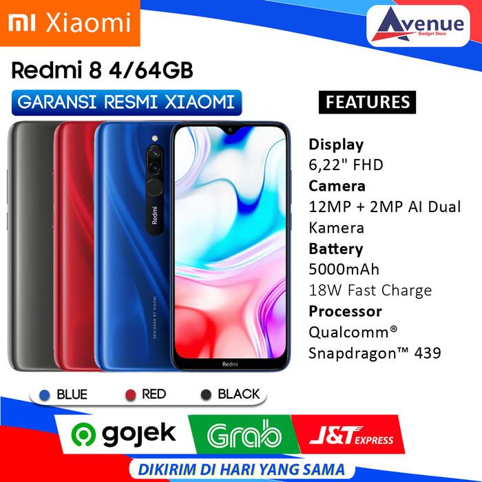 Foto Produk HP XIAOMI REDMI 8 4/64GB GARANSI RESMI PROMO MURAH - Hitam dari avenue gadget store