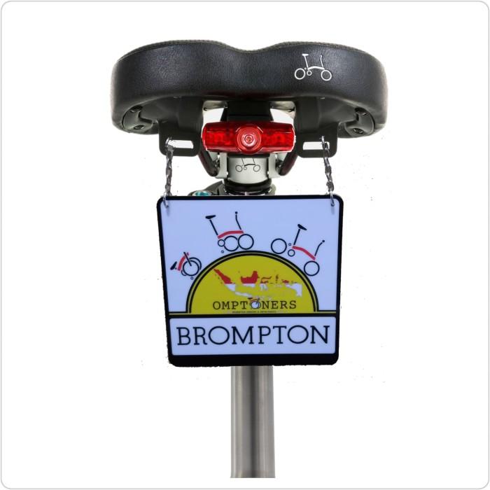 Foto Produk Bord sadel brompton gantungan saddle bike brompton gantungan brompton dari diks adventure