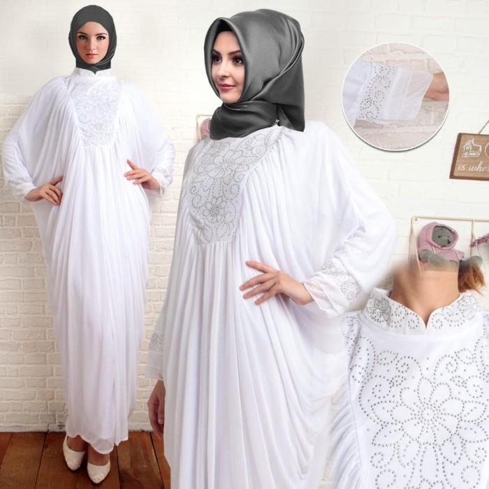 Foto Produk gamis kaftan spesial white dari fortunata_shop