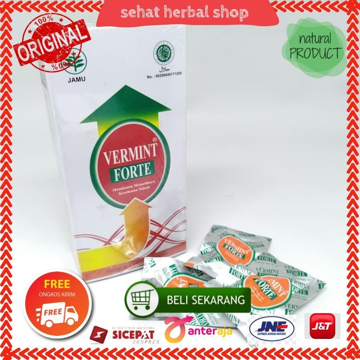 Foto Produk Vermint Forte isi 30 Kapsul Herbal dari sehat herbal shop