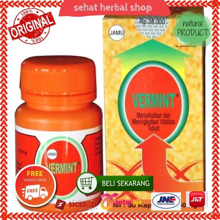Foto Produk Vermint isi 30 kapsul Obat Tipus Tipes Menaikan Trombosit Herbal dari sehat herbal shop