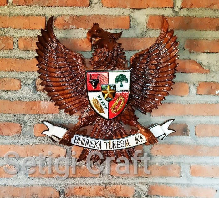Jual Hiasan Dinding Lambang Negara Indonesia Burung Garuda Pancasila Ber Kab Serang Petrasihombing Tokopedia