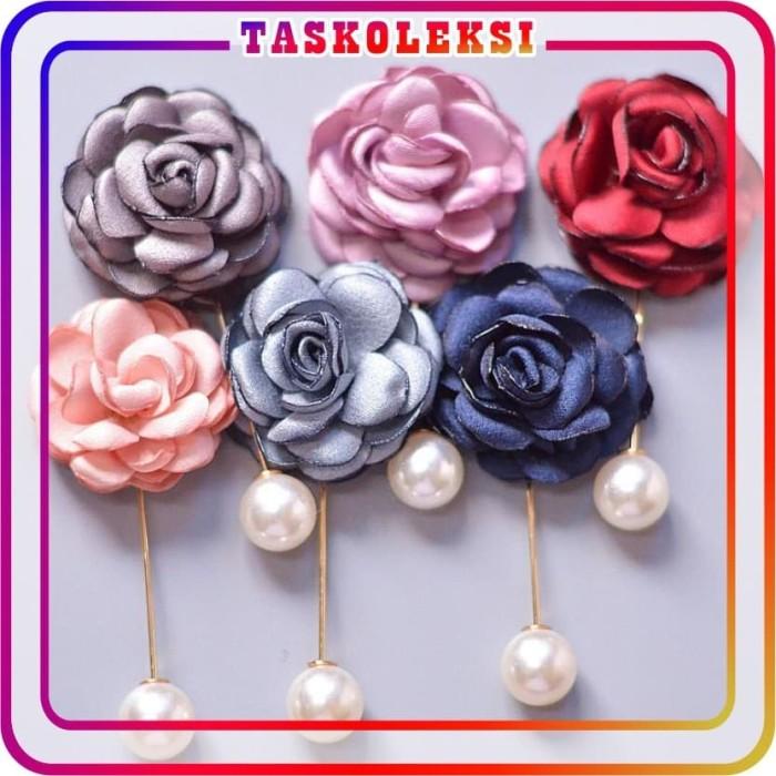 Jual Tk A023 Bros Tusuk Bunga Mawar Mutiara Cantik Simple Jilbab