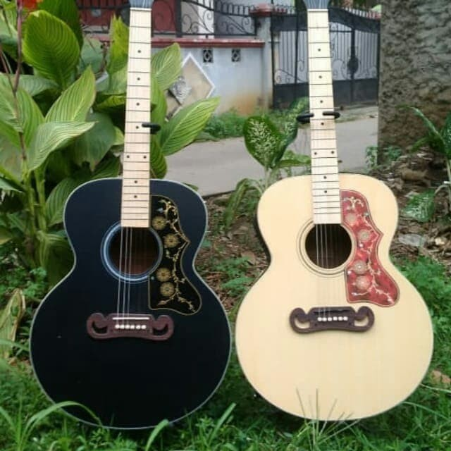 Jual Gitar Akustik Gibson J200 Neck Utuh Bidi Dobel Run Berkualitas Kota Tangerang Emod Music Tokopedia