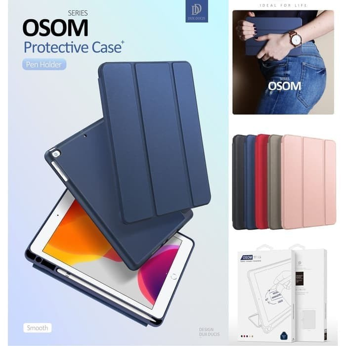 Foto Produk Case iPad 7 10.2 inch 7th-gen 2019 Dux Ducis Osom Series Cover Casing - Hitam dari societyacc