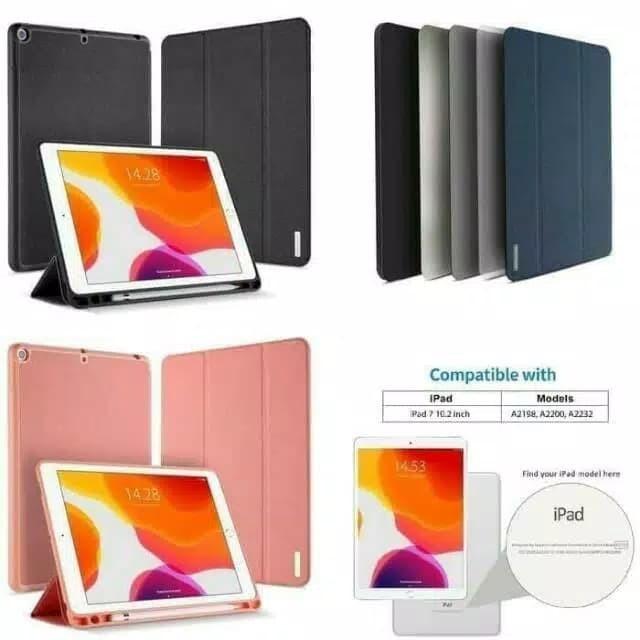Foto Produk case ipad 7 10.2 inch 7th-gen 2019 Dux Ducis Domo Series Cover casing - Hitam dari societyacc