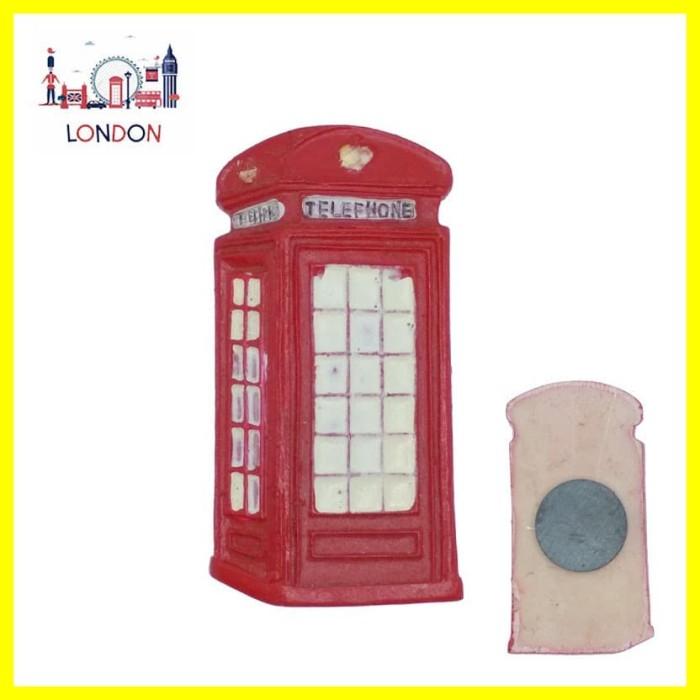 Foto Produk Souvenir Oleh2 Mancanegara Magnet Tempelan Kulkas London Telephone dari Iyesh Online Store