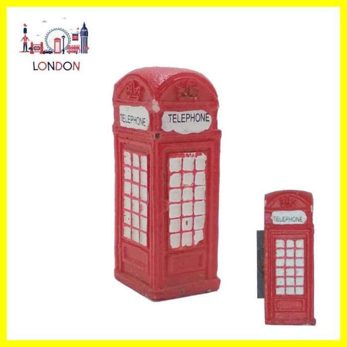 Foto Produk Souvenir Oleh2 Mancanegara Magnet Tempelan Kulkas London Telephone 3D dari Iyesh Online Store