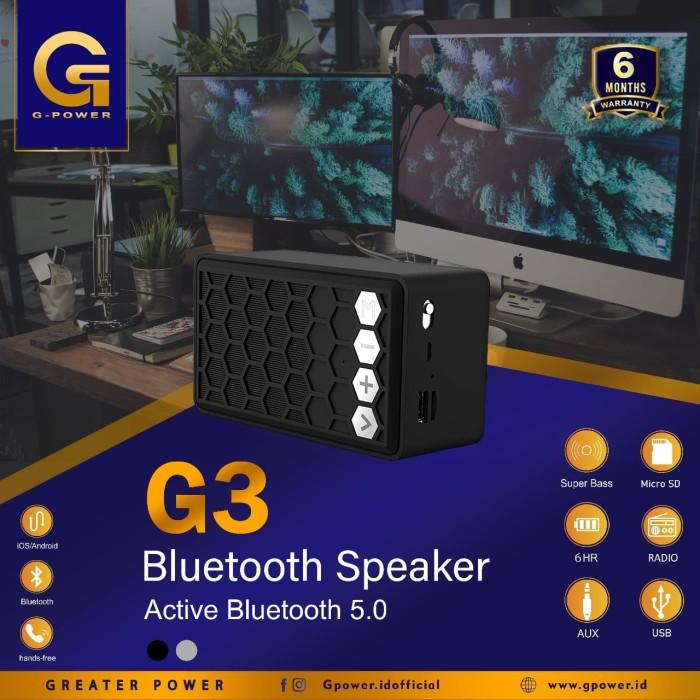 Foto Produk GPOWER SPEAKER BLUETOOTH G3 GARANSI RESMI 6BULAN SUPERR BASS dari G-Communication