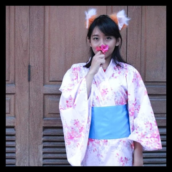 Jual Promo Yukata Kimono Kostum Cosplay Wanita Jepang Tradisional Hijau Jakarta Barat Indah Berkah1 Tokopedia