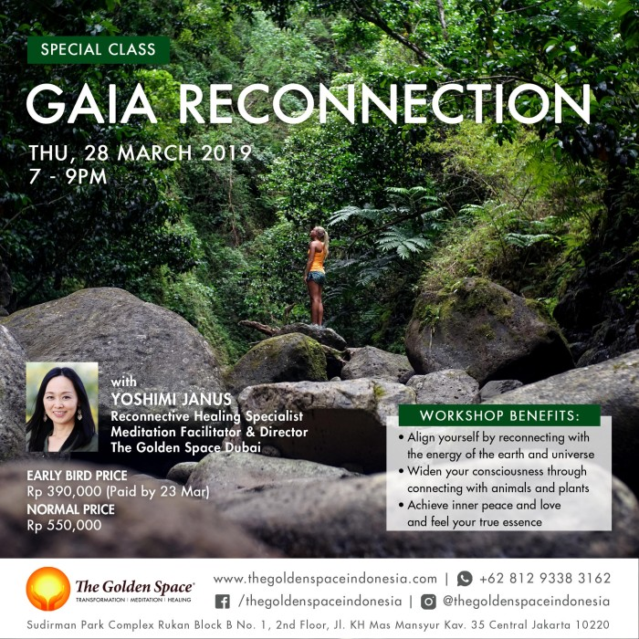 Jual Gaia Reconnection Jakarta Pusat The Golden Space Tokopedia