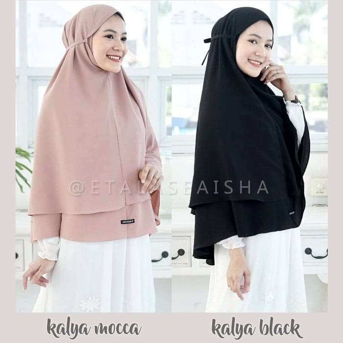 Jual Jilbab Instan Bergo Tali Khimar Kalya Termurah Hijab Syari Terbaru Kota Bandung Evellina Hijab Store Tokopedia