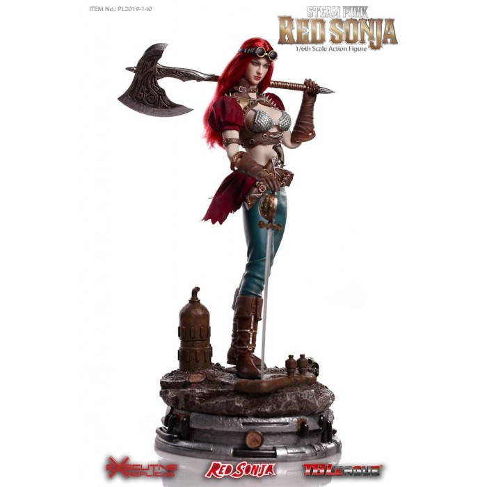 TBLeague PL2019-140A 1//6 Steam Punk Red Sonja Figure Model No Base Seamless Body