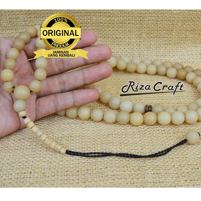 Foto Produk Tasbih Biji Buah Gebang ASLI Unik Bagus Terbaik 99 Butir dari Riza Craft
