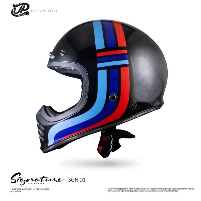 Foto Produk JP Retro Signature SGN 01 Super Black dari JPX Helmet