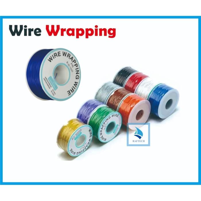 Foto Produk Wire Wrapping - Kawat Jumper 30AWG Kabel PCB Breadboard - 1 ROLL - Biru dari RAFTECH