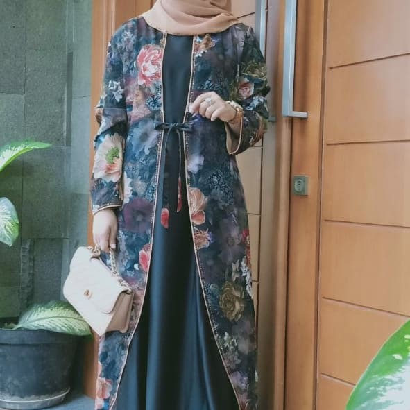 Jual Busana Muslim Abaya Hikmat Fashion Kode A 8166 Brown Termodis Premium Jakarta Pusat Berkah Mu Tokopedia