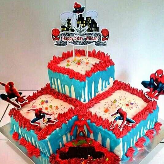 Jual Kue Ulang Tahun Karakter Spiderman Kab Karawang Mella Bolu Tokopedia