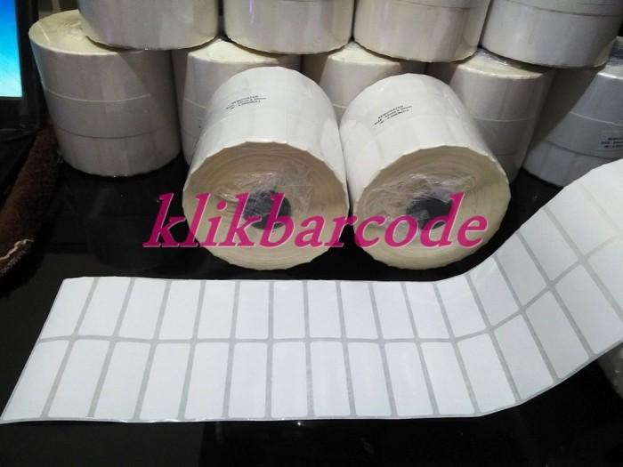 Foto Produk LABEL BARCODE 50 X 20 MM , 2 LINE CORE 1 INCH ( ISI : 5.000 PCS , dari anantaputri_shop