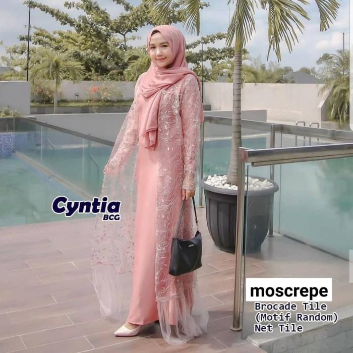 Jual Cyntia Dress Gaun Muslim Kondangan Baju Gamis Modern Jakarta Timur Shabi Insani Muslimah Tokopedia