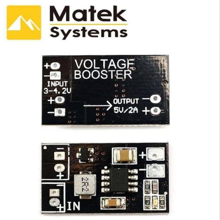 Foto Produk Matek DC-DC Voltage Booster 1S Lipo to 5V Step Up Converter dari GADGET4ALL