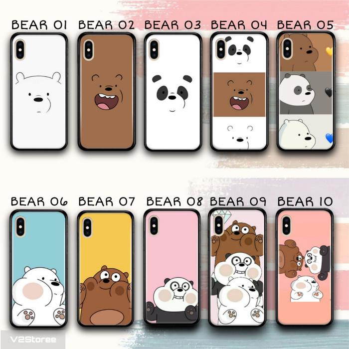 Foto Produk Premium Hardcase Kaca Motif Bare Bears For Samsung A11 dari V2Storee