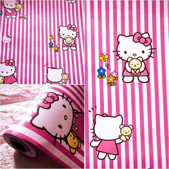 Jual Grosir Walpaper Stiker Dinding Karakter Hello Kitty Garis 10 X45 Kab Pati Omah Wallpaper Dinding Tokopedia