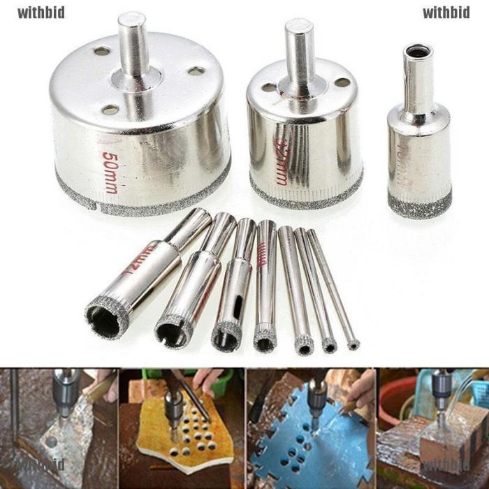 "1pcs 12mm Diamond coated hole saw core drills drill bit glass DSUK 1//2/"" inch"
