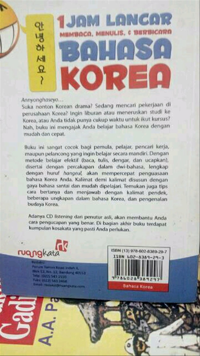 Jual Satu Jam Lancar Membaca Menulis Dan Berbicara Bahasa Korea Jakarta Pusat Sherzz Store