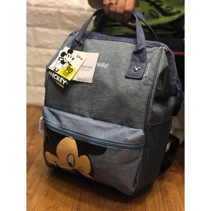 Foto Produk ABM01 - TAS Anello Backpack Mickey Denim 4Warna P26cm L19cm T37cm dari C0al Shop