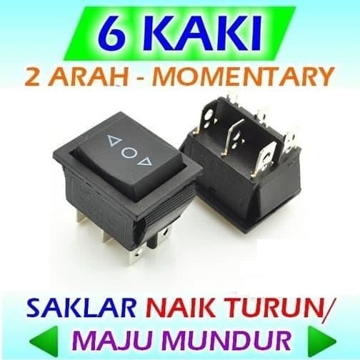 Jual Saklar Maju Mundur Naik Turun 6 Kaki Switch Spdt Dpdt Ba 16 6mm Kota Tangerang Selatan Dh Tronic Tokopedia