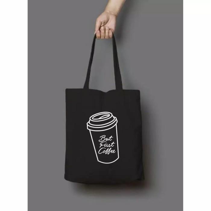 Foto Produk Tas Tote bag wanita semi kanvas Coffe dari Rizkishoes