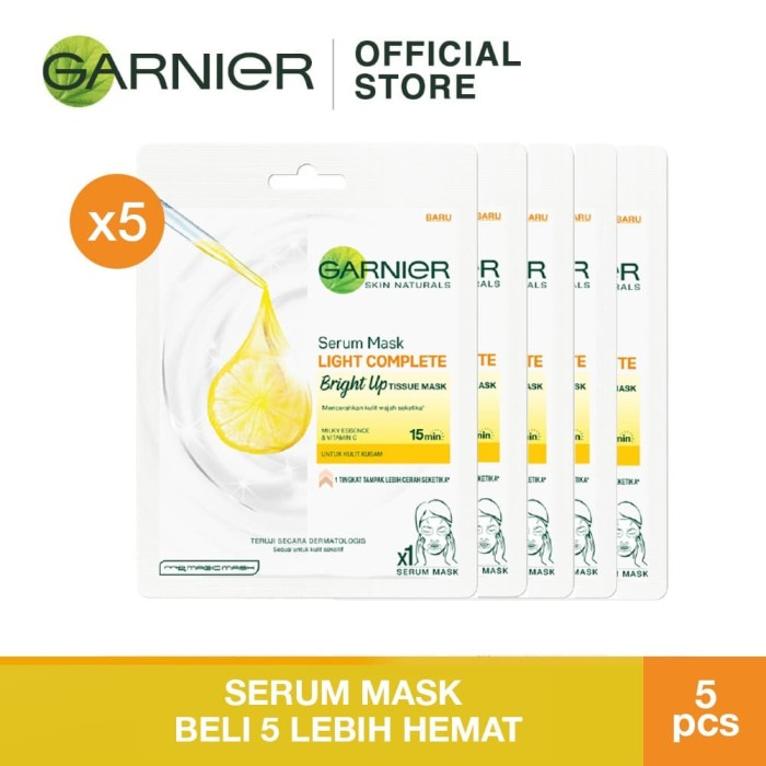 Foto Produk Garnier Serum Mask Light Complete Bright Up Bundle dari Garnier Official