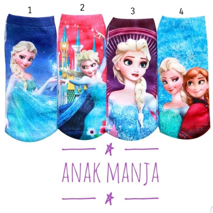 Foto Produk Kaos Kaki import Anak Perempuan/Remaja Seri Frozen 2/Anna Elsa - Biru dari Anak Manja
