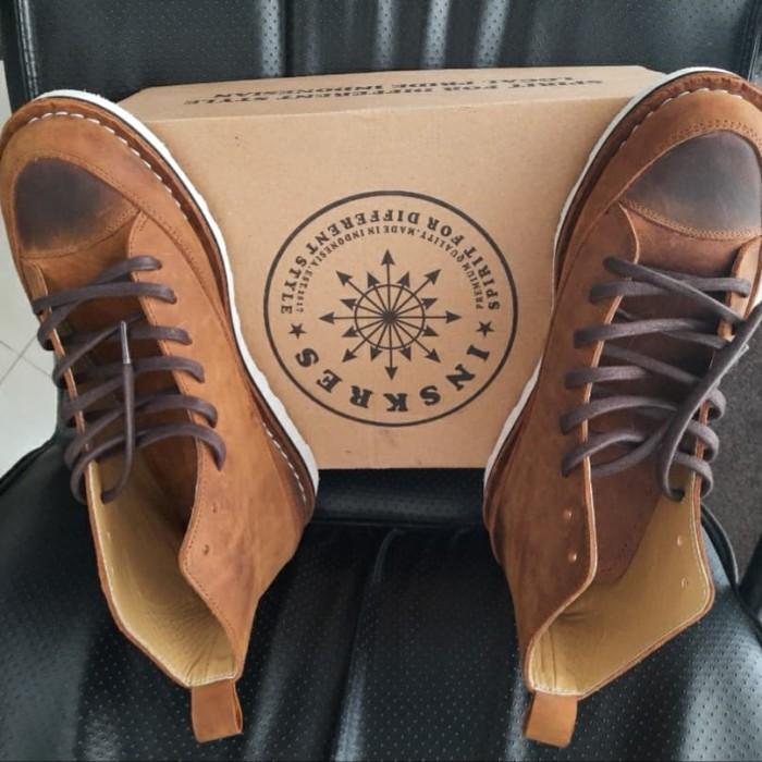 Jual Sepatu Kulit Lokal Bandung Inskres Cokelat 43 Jakarta