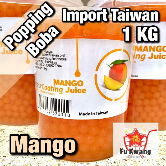 Foto Produk [Khusus Gosend] Popping Boba Rasa Mango Mangga Import Taiwan 1 kg dari Fu Kwang Mart